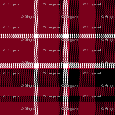 Red Black and White Plaid
