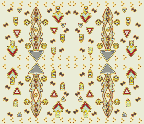 Bohemian_vers_kix fabric by designs_by_phyllis_lepore on Spoonflower - custom fabric