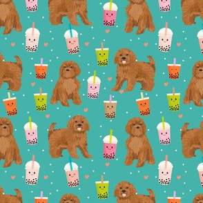 ruby Cavoodle cavapoo dog breed fabric bubble tea