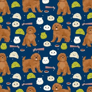 ruby Cavoodle cavapoo dog breed fabric dim sum