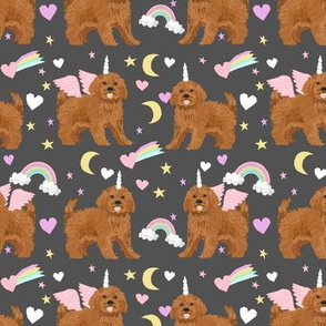 ruby Cavoodle cavapoo dog breed fabric unicorn