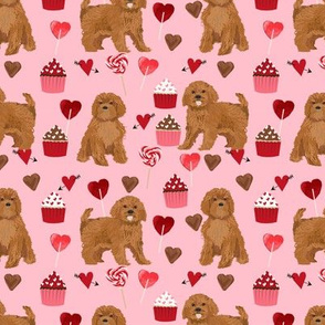 ruby Cavoodle cavapoo dog breed fabric valentines