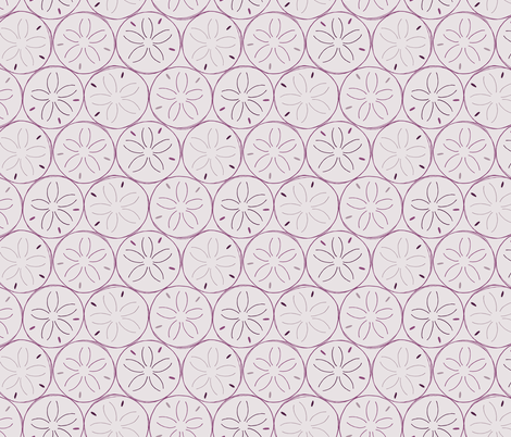 Sanddollars in Purple fabric by figandfossil on Spoonflower - custom fabric