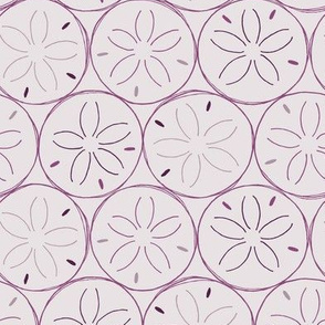 Sanddollars in Purple