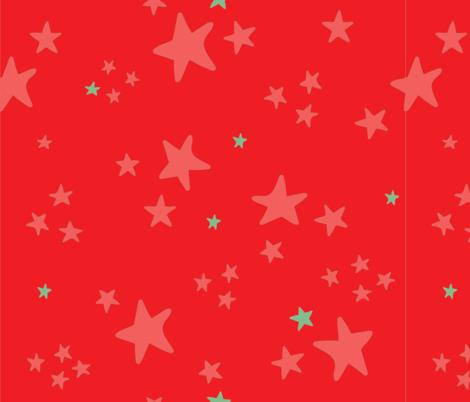 Circus Stars Red fabric by annhurleydesign on Spoonflower - custom fabric