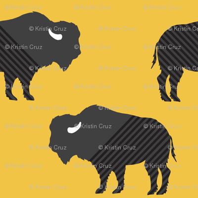 Buffalo Stripes on Mustard