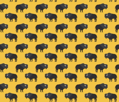 Buffalo Stripes on Mustard fabric by graceandcruzdesigns on Spoonflower - custom fabric