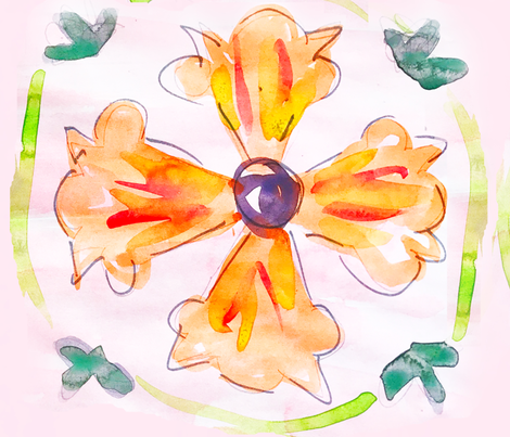 Poppy Tile fabric by allisonleigh on Spoonflower - custom fabric