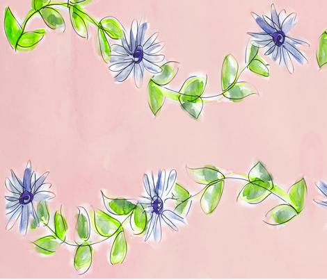 Purple Flower Vine fabric by allisonleigh on Spoonflower - custom fabric