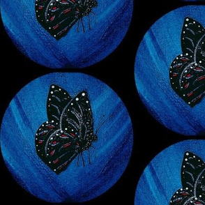 Butterfly dots black-ed