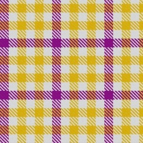 Purple Gold and White Plaid