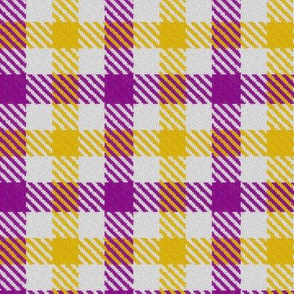 Purple Gold and White Plaid 2