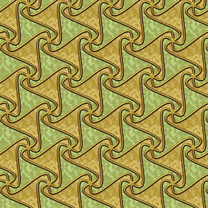 Triangle tiles in olive and tan