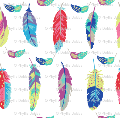 Fantasy Feathers White