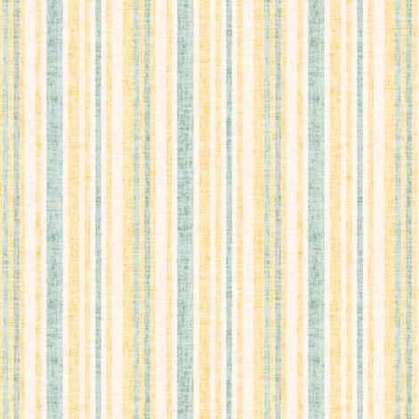 17-8AC Textured Linen Pinstripe Yellow  gold cream green || Mid-century modern  _ Miss Chiff Designs fabric by misschiffdesigns on Spoonflower - custom fabric