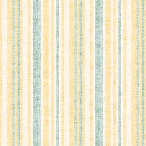 Textured Linen Pinstripe Yellow  gold cream green || Mid-century modern  _ Miss Chiff Designs