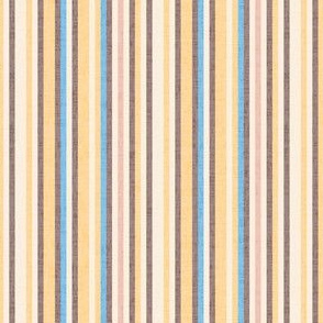 17-08R Textured Pinstripe Brown Yellow Blue Cream || Off white gold mauve pin stripe thin _ Miss Chiff Designs