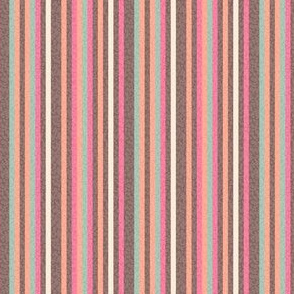 Pinstripe peach coral pink green brown || Pin stripe Mid-Century modern _ Miss Chiff Designs