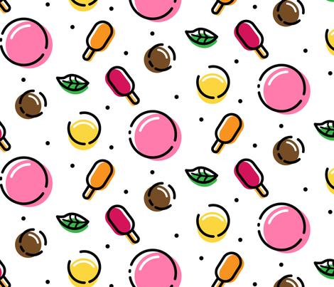 Memphice Cream  fabric by catherineswan on Spoonflower - custom fabric