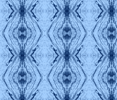 Altered States of Indigo Dark-on-Light fabric by pissykrissy on Spoonflower - custom fabric