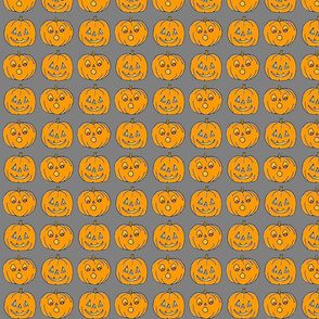 Jack o lanterns on GRAY