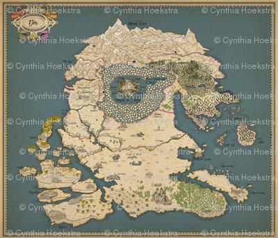 Huge map of fantasy world!