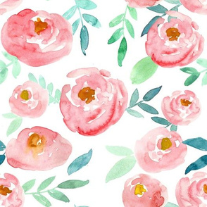 soft pink watercolor floral