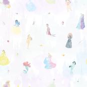 Watercolor Princesses