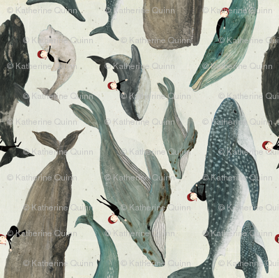whale rider tea towel