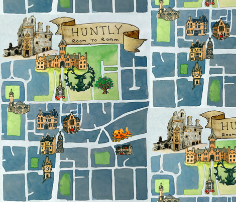 Huntly Map fabric by bethramsden on Spoonflower - custom fabric