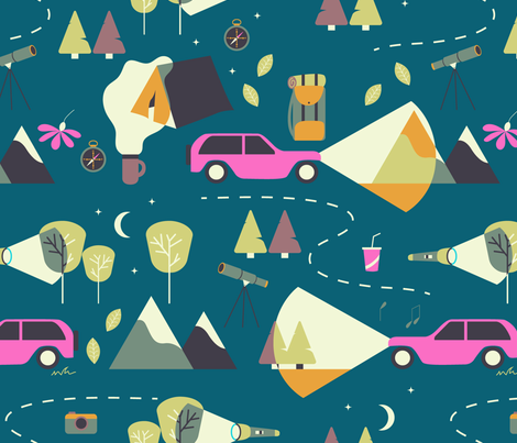 nighttime adventure fabric by nanamira on Spoonflower - custom fabric