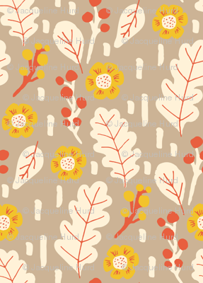 fall leaves and flowers