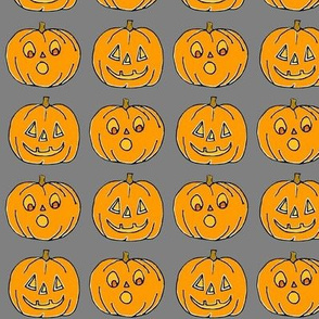 Jack o lanterns on Grey!