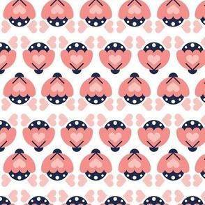 Folk pink flower