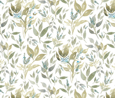 Bluebonnet Florals fabric by cfjohnsondesigns on Spoonflower - custom fabric