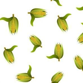 corncobs on white