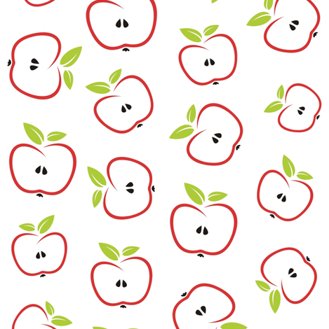 apple slices fabric by stofftoy on Spoonflower - custom fabric