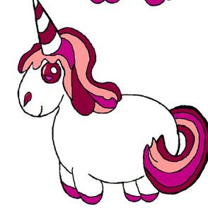 two unicorns a yard - large plushies