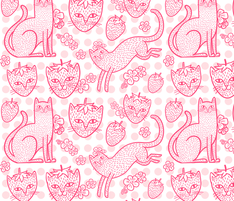 Strawpurry in Fruity Dots fabric by pinkowlet on Spoonflower - custom fabric