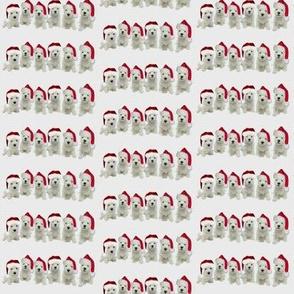 Westies Santa Puppies