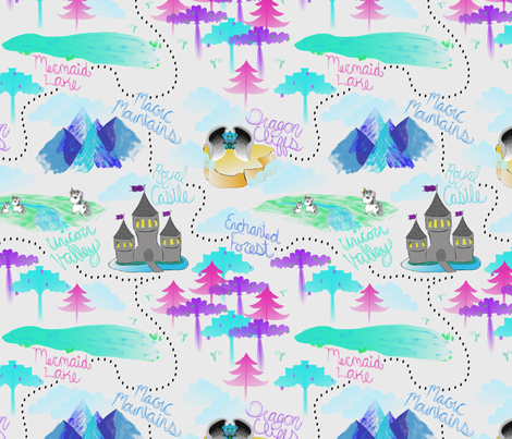 Fantasy Map fabric by everhigh on Spoonflower - custom fabric