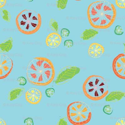 Citrus Mix on Blue