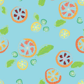 Citrus Mix on Blue