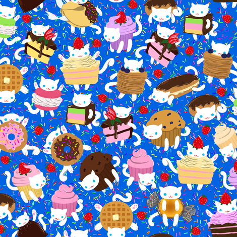 Cat Treats 2 fabric by jadegordon on Spoonflower - custom fabric