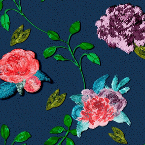 Embroidery Inspired Roses