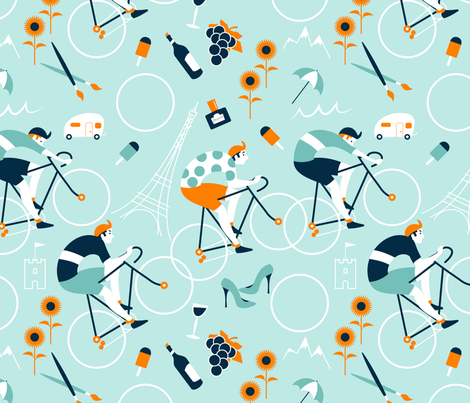 It Is Summer It Is Tour de France fabric by overbye on Spoonflower - custom fabric