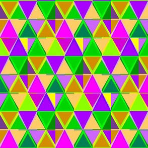 Mardi Gras Triangle Stripes