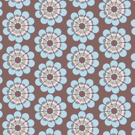Mid Century Modern Flower Geometric Floral Blue Pink