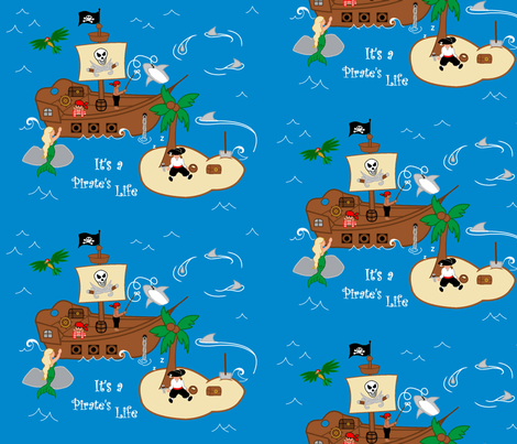 A Pirates life fabric by roseivy on Spoonflower - custom fabric