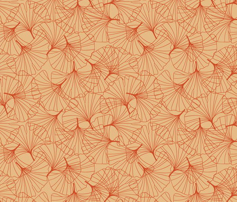 Ginkgo fabric by 38thandtemple on Spoonflower - custom fabric